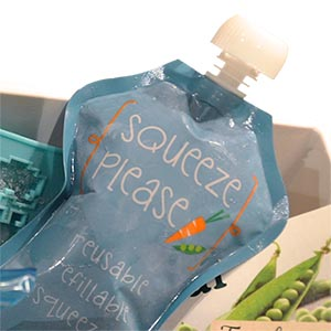 Squeeze Please pouches are freezer-safe